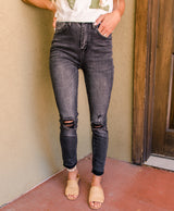 Mikey Distressed Skinny Jeans