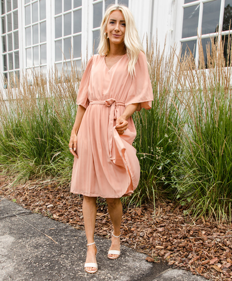 Erica Pleated Dress