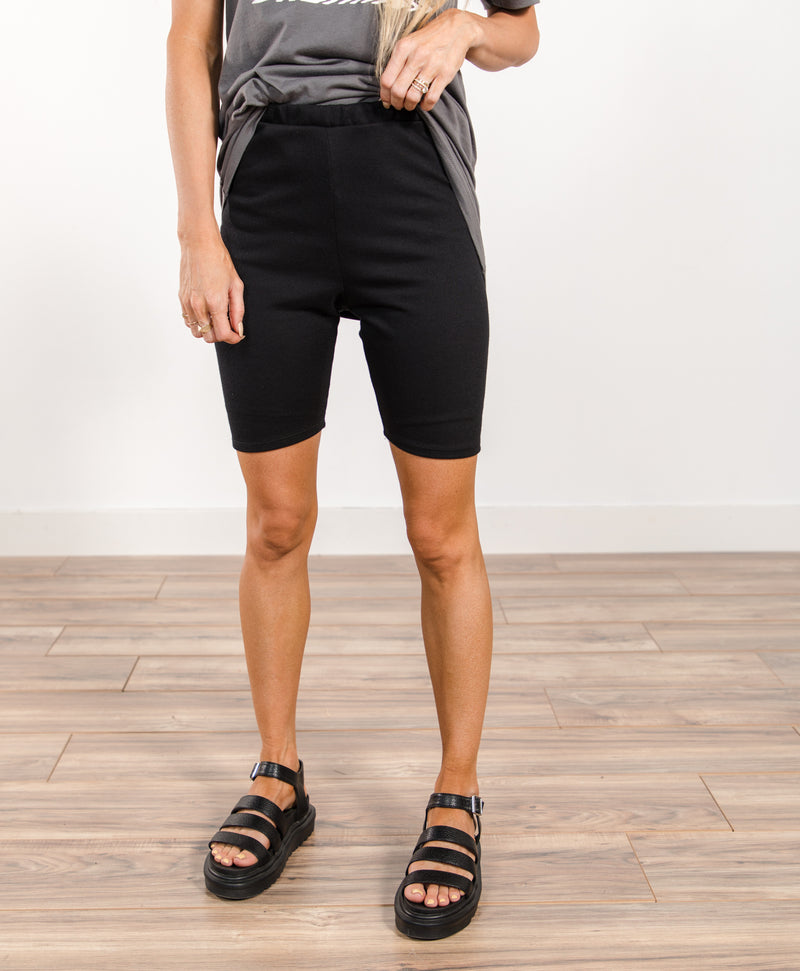 Monique French Terry Biker Shorts