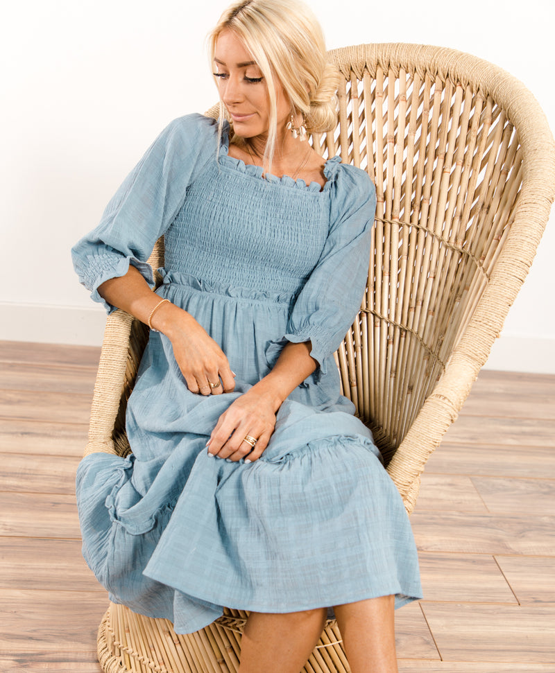 Laurie Ruffle Dress Pre-Order
