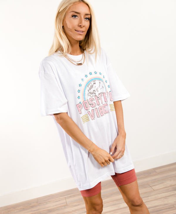 Positive Vibes Graphic Tee