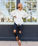 Bri Button Down Top