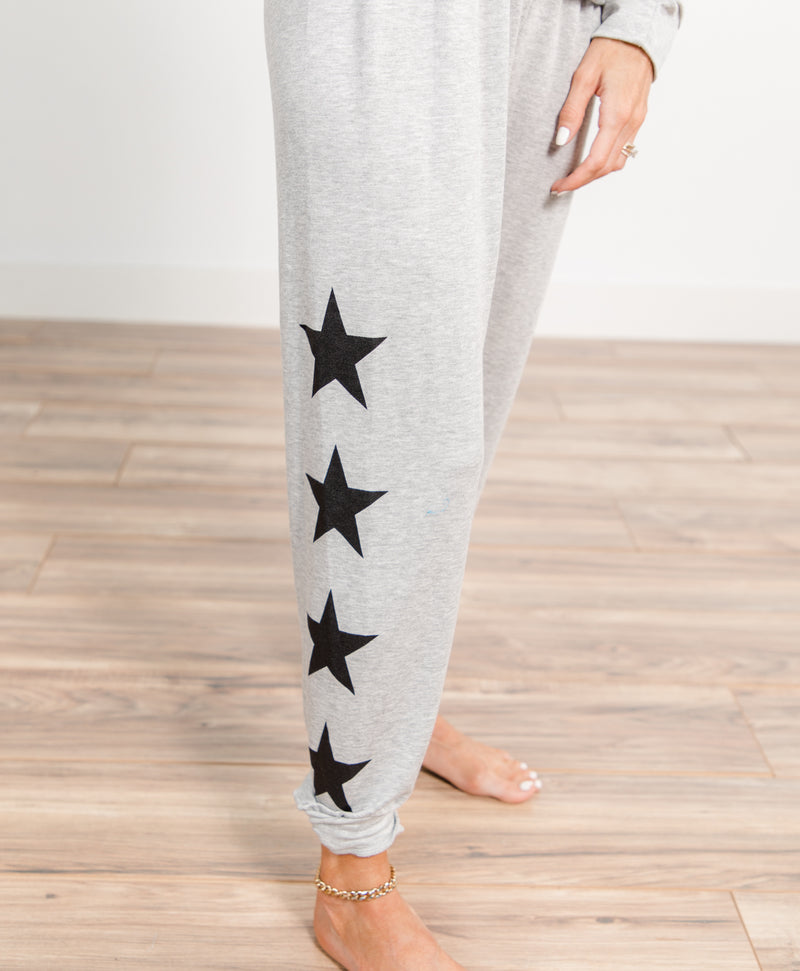 Star Printed Knit Pants