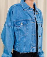 Kinsley Cropped Denim Jacket