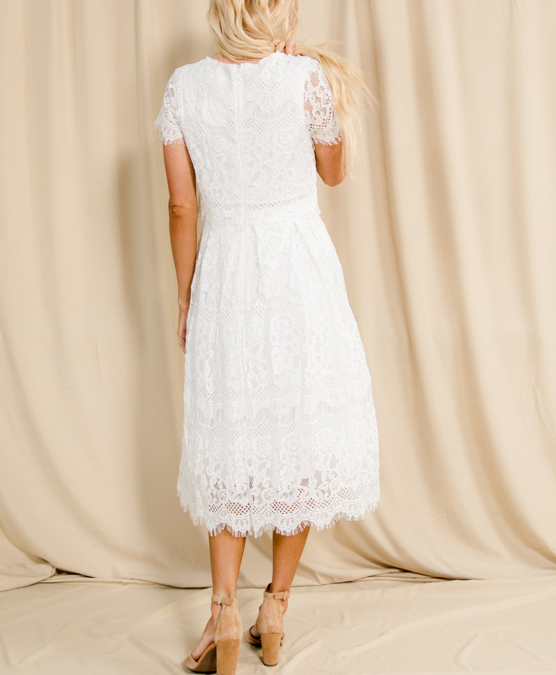 Shayla Lace Midi Dress