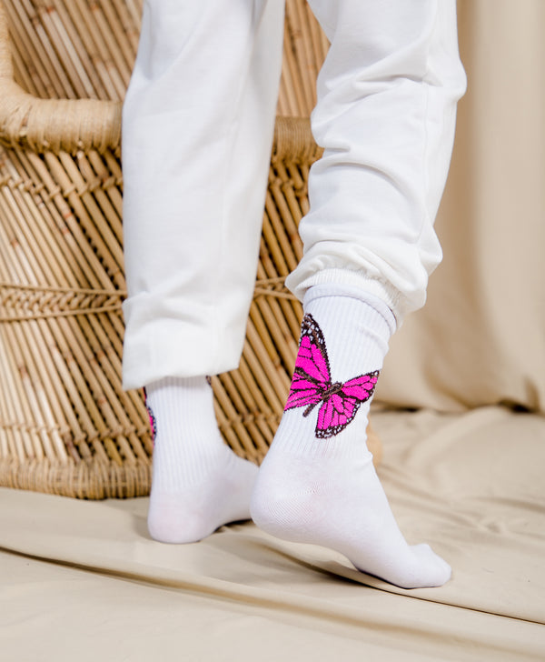 Butterfly Tube Socks