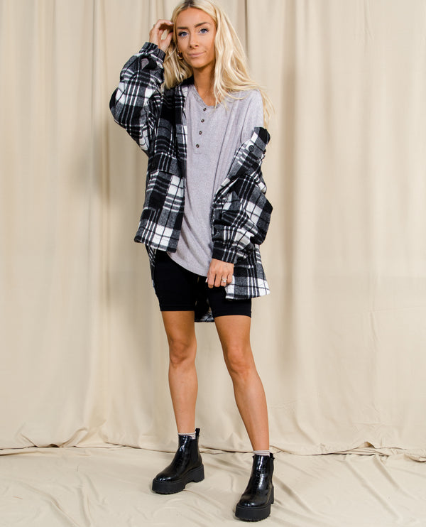 Loretta Oversize Plaid Top