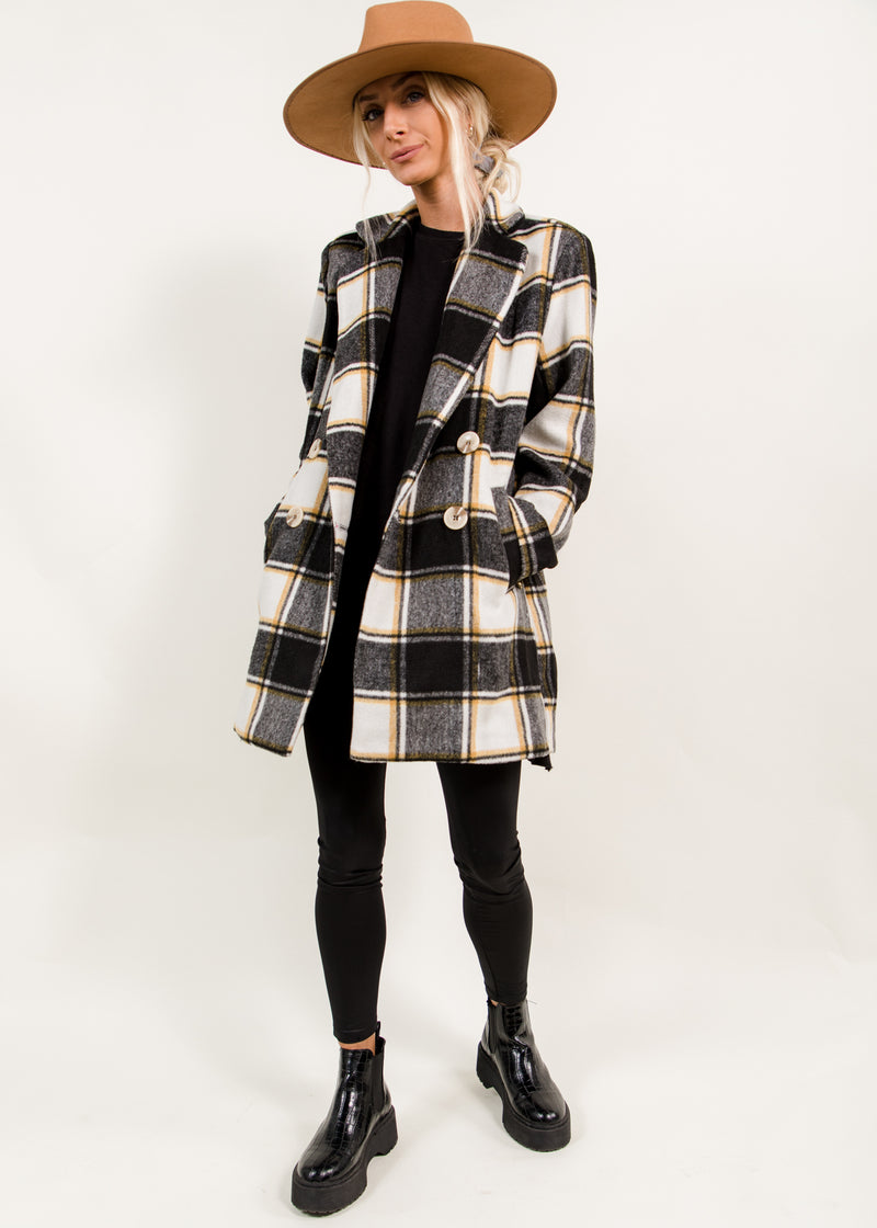 Simmons Plaid Coat