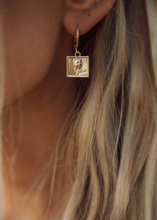 Belle Square Earrings
