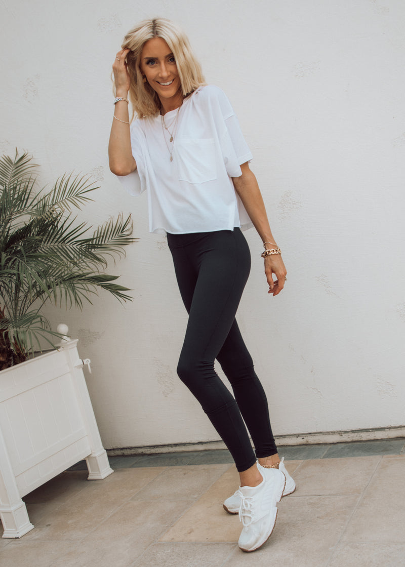 Serena Cropped Pocket Tee