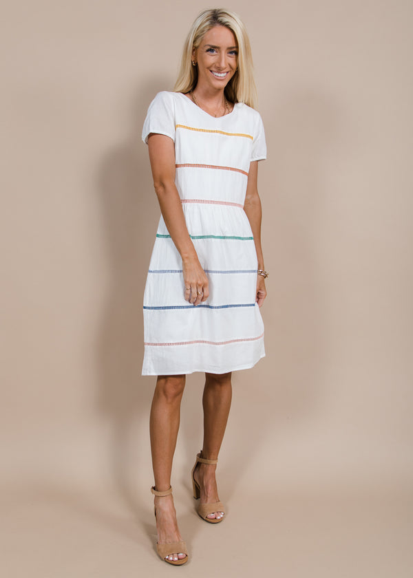 Paige Rainbow Stripe Dress