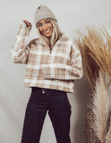 Plaid Sherpa Pullover