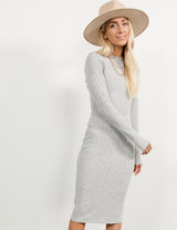 Genevieve Ribbed Midi Dress