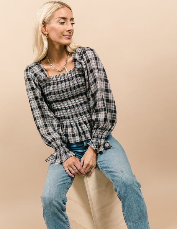 Darcie Plaid Top