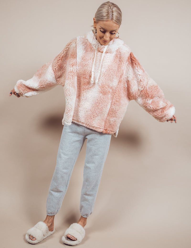 Sunset Tie Dye Sherpa Pullover