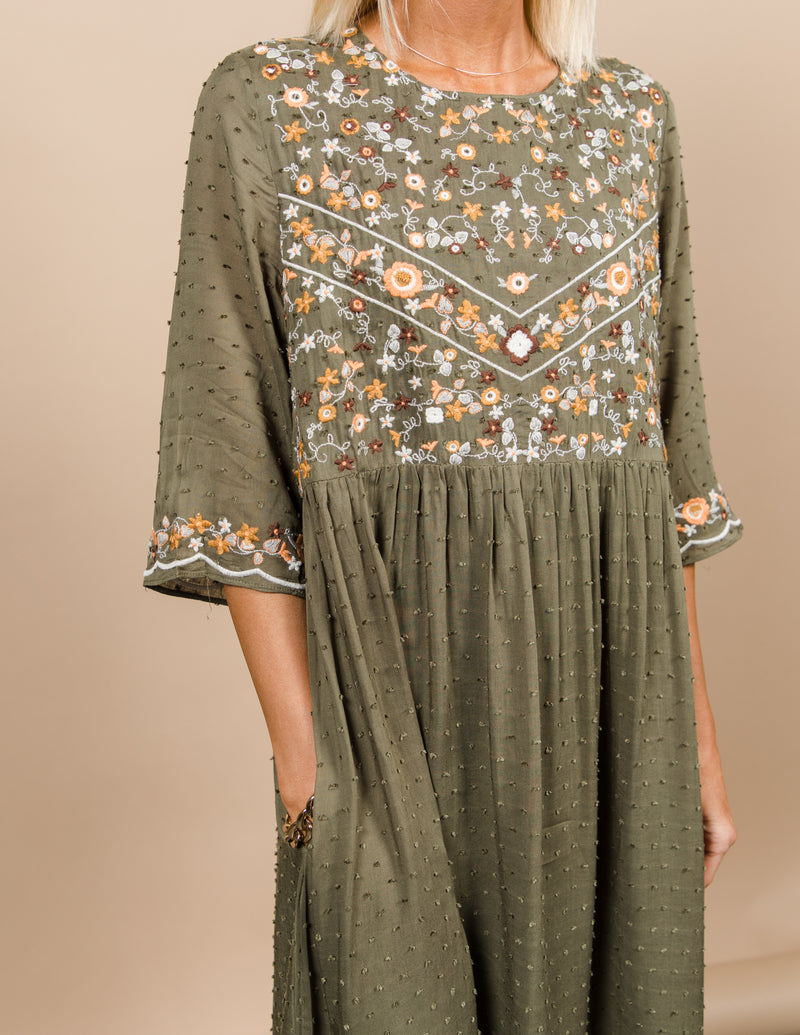 Colette Embroidered Dress