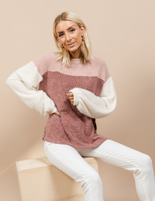 Amber Colorblock Sweater
