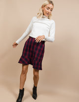 Hilary Plaid Skirt
