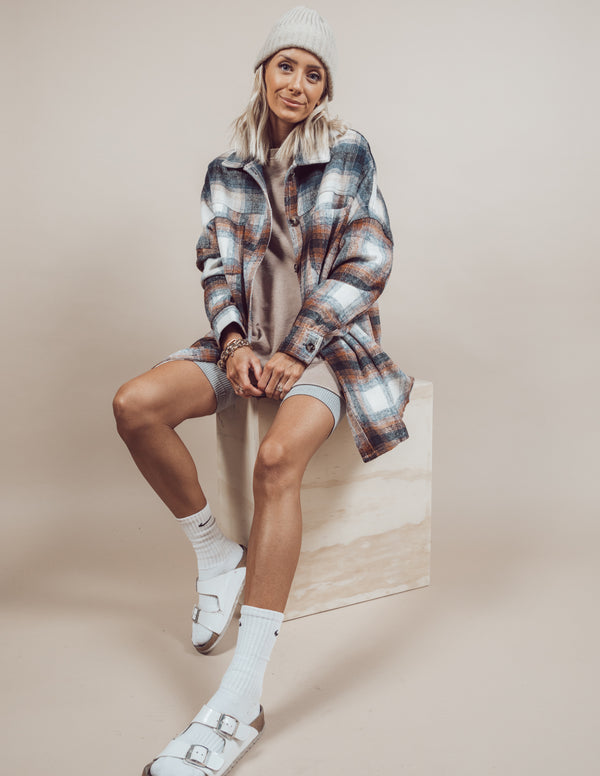 Connie Plaid Over Shirt Pre-Order