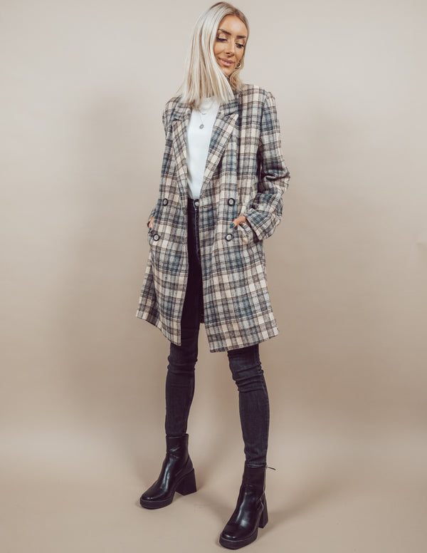 Becca Plaid Coat