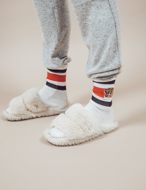 Luxe Embroidered Socks