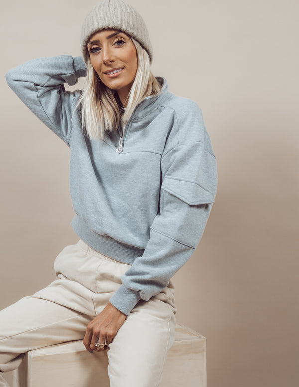Cropped Cargo Sweatshirt