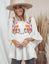 Brooke Floral Embroidered Top