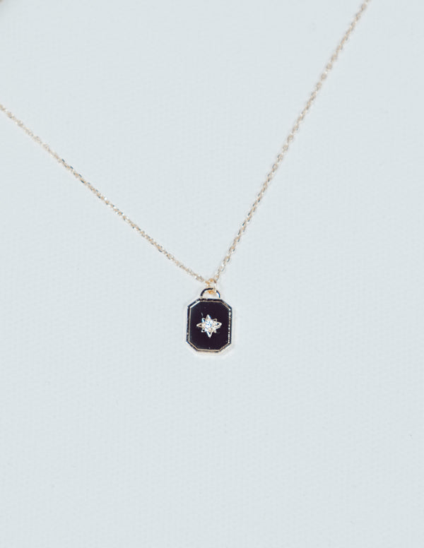 Rectangle Star Pendant Necklace