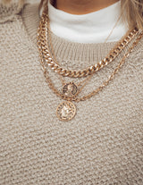 Sikka Coin Chain Necklace
