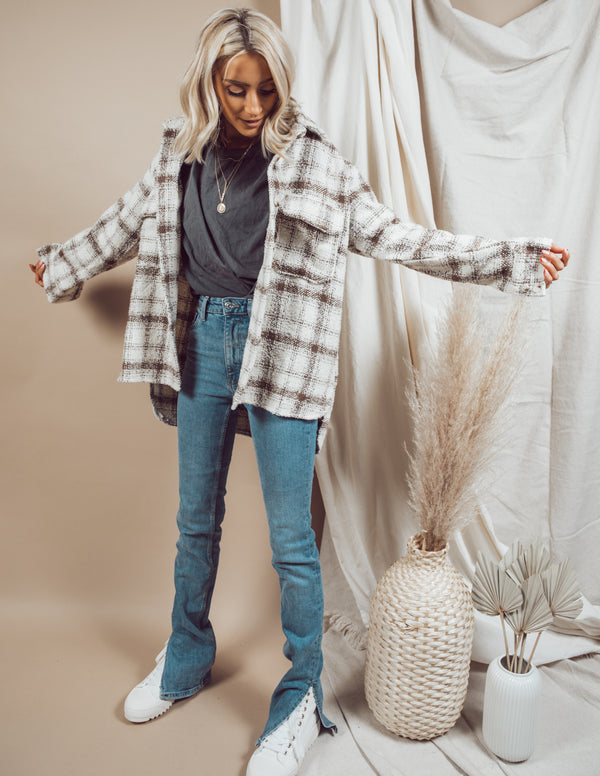 Maya Plaid Over Shirt