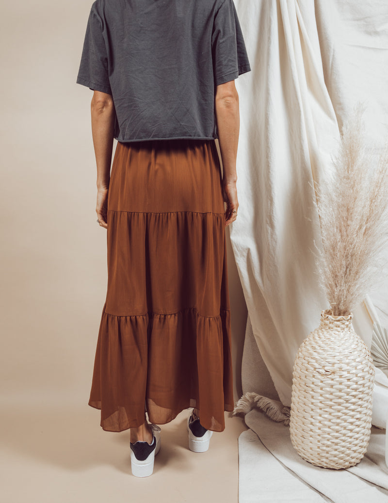 Raphealle Tiered Maxi Skirt