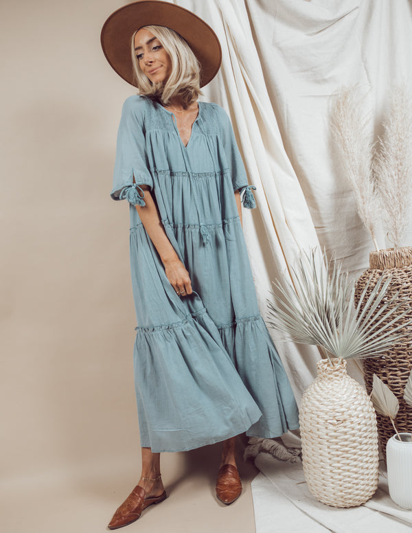 Dola Ruffle Maxi Dress