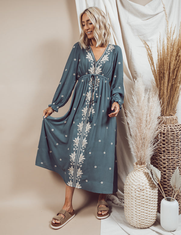 Cesar Embroidered Dress