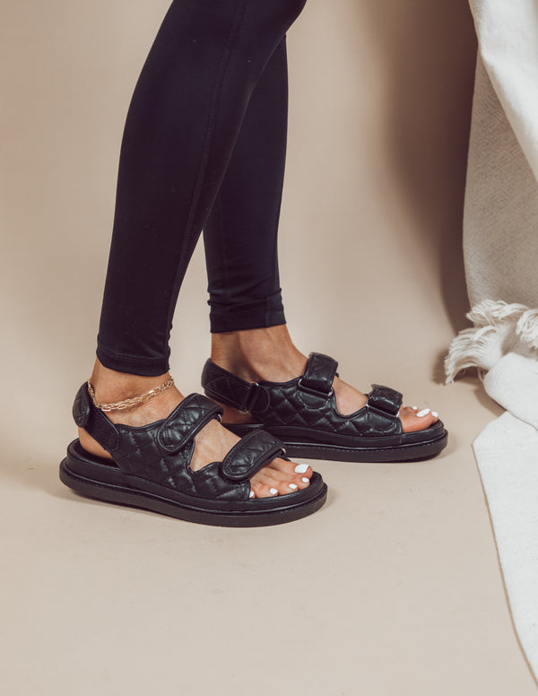 Charlie Quilted Sandals