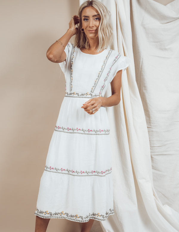 Rochelle Embroidered Dress