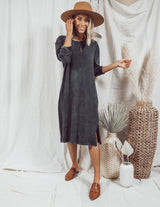 Mineral Washed T-Shirt Dress