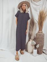 Robin Stripe Midi Dress