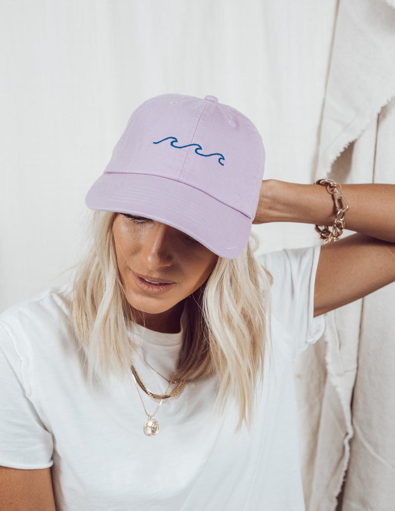 Wave Embroidered Baseball Cap