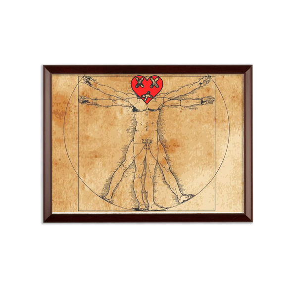 Vitruvian Sublimation Wall Plaque