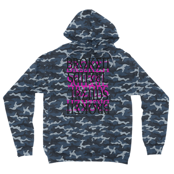 Black Purple Trippy Camouflage Adult Hoodie
