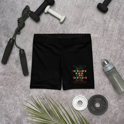 Black Excellence Spandex Shorts