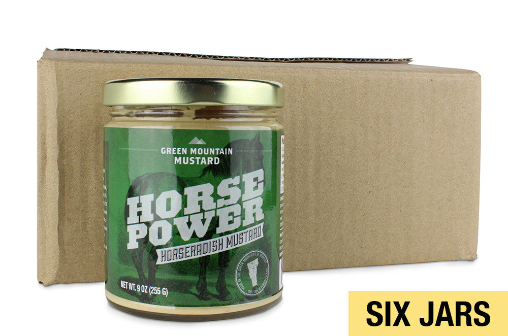 Six Jars of Horsepower - Horseradish Mustard