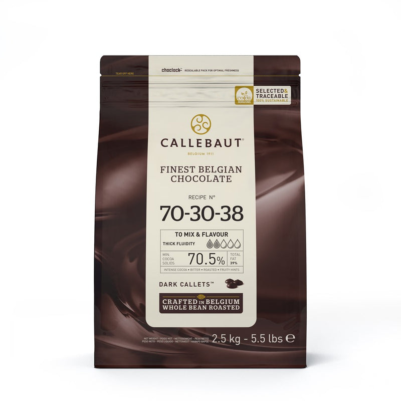 CALLEBAUT DARK STRONG 70/30 2.5KG BAG c8