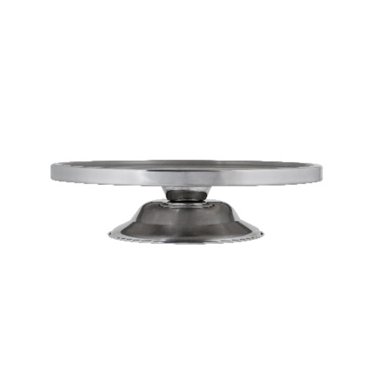 CAKE STAND  STAINLESS   300MM  80MM HIGH