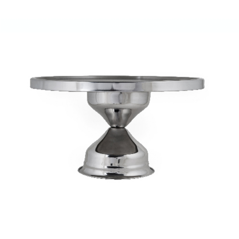 CAKE STAND  STAINLESS 300MM  180MM HIGH