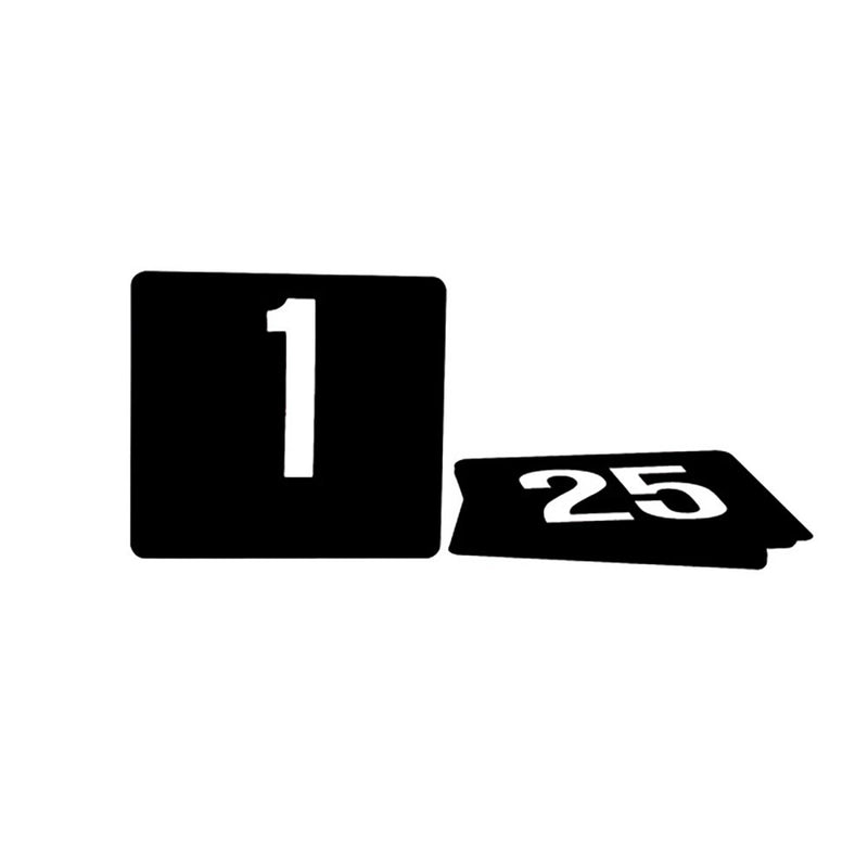 TABLE NUMBERS BIG 1-50 WHITE ON BLACK