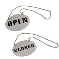 OPEN/CLOSED SIGN ROUND WITH CHAIN
