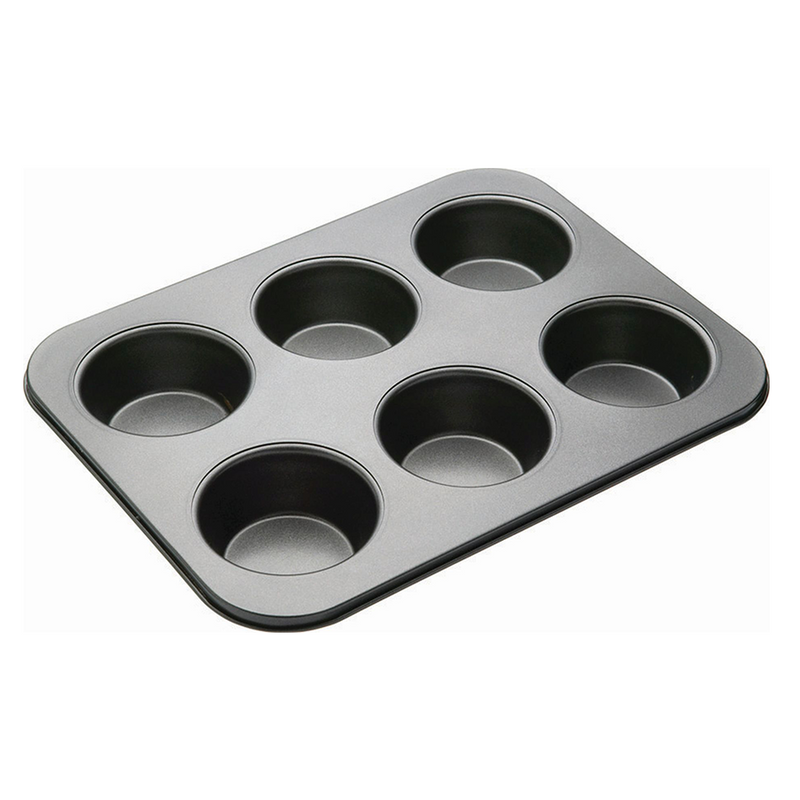 MUFFIN SHEET  6 CUP NON-STICK   90MM