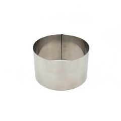 CAKE RING  STAINLESS  100MM 60MM HIGH