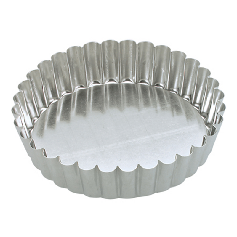 TARTLET  FLUTED LOOSEBASE TIN 100 X 30MM